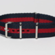 Momentum Nato Strap Dark Blue & Red Striped