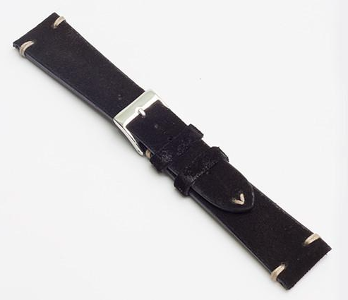 Momentum Vintage Strap Black Suede Leather