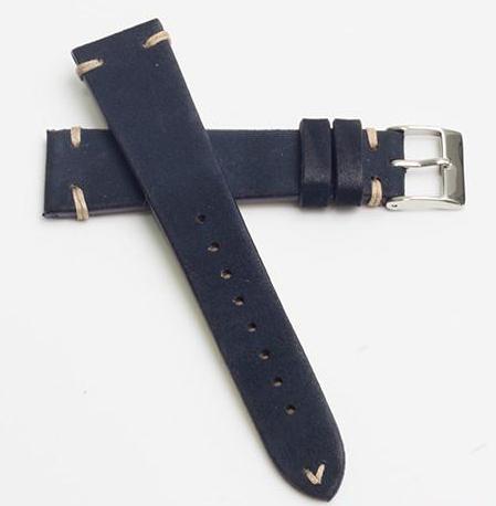 Momentum Vintage Strap Dark Blue Leather-20mm
