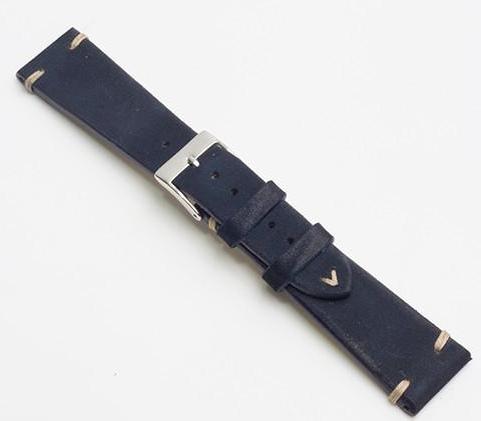 Momentum Vintage Strap Dark Blue Leather