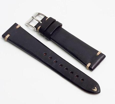 Momentum Vintage Strap Black Smooth Leather
