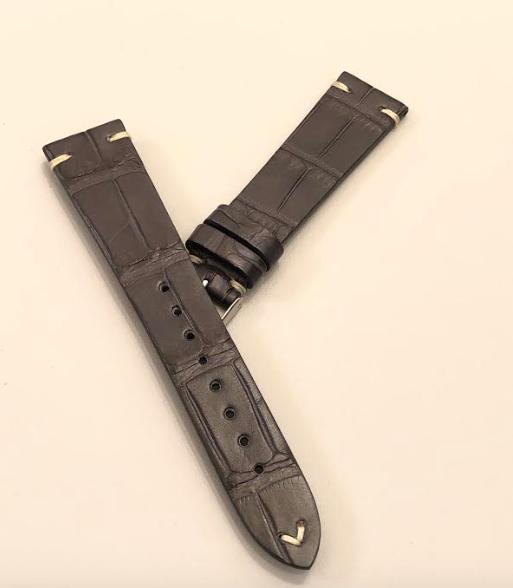 Momentum Vintage Strap Matte Alligator Grey Leather