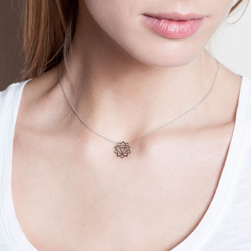 Tiny Om Manipura necklace
