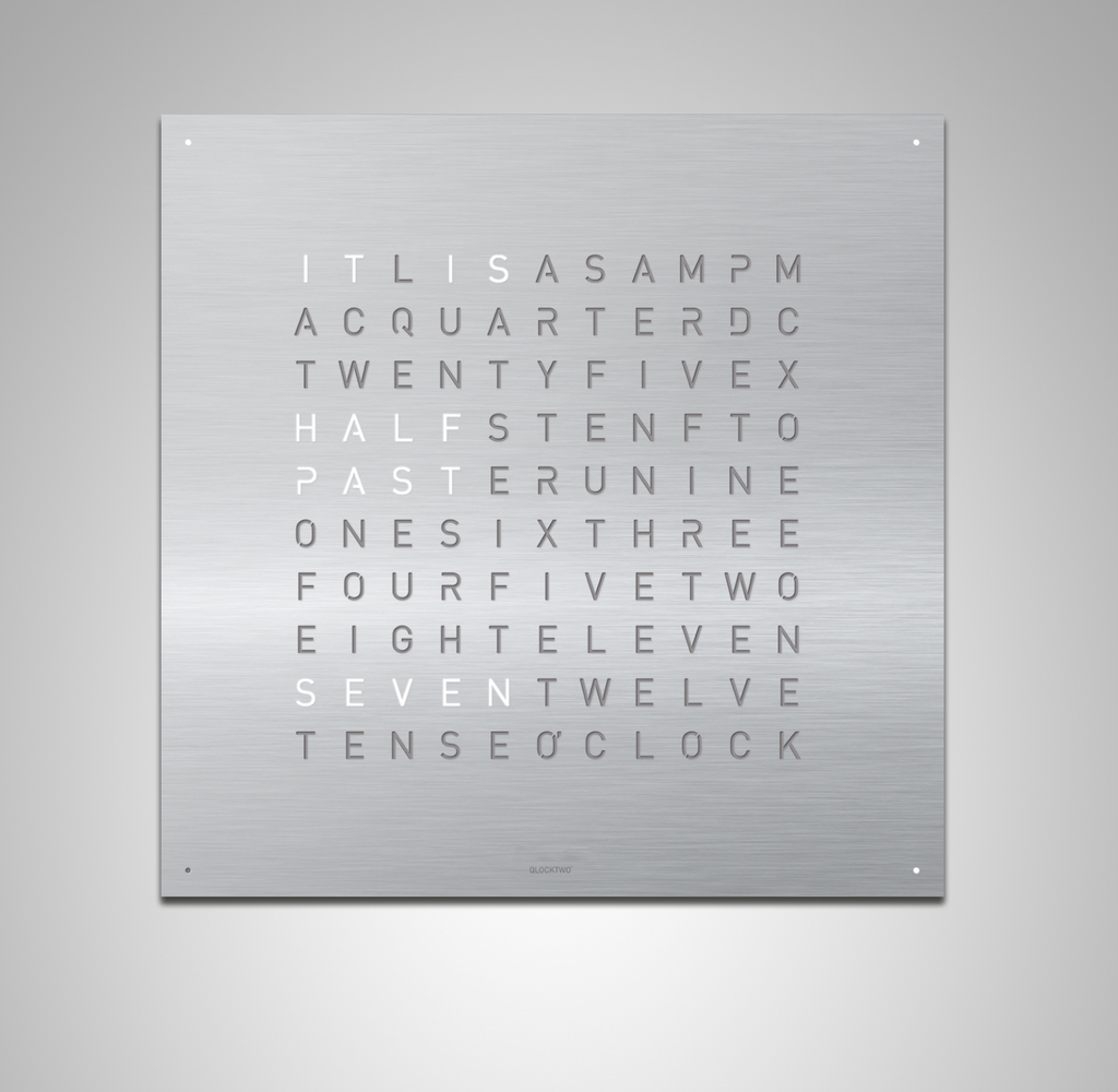 Qlocktwo Qlocktwo Classic Stainless steel