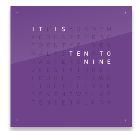 Qlocktwo Qlocktwo Classic, Frozen Blackberry Purple