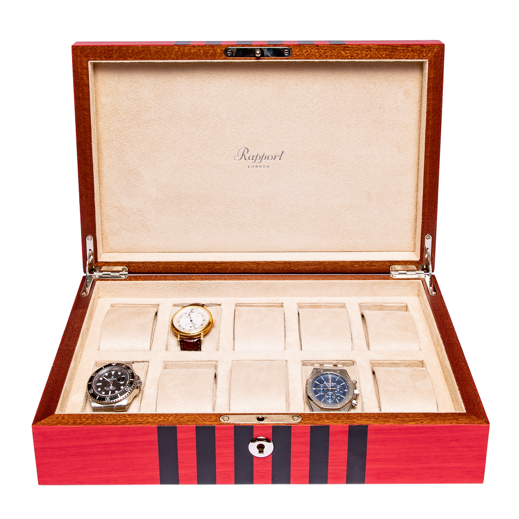 RAPPORT LABYRINTH WATCHBOX for 10 watches- RED