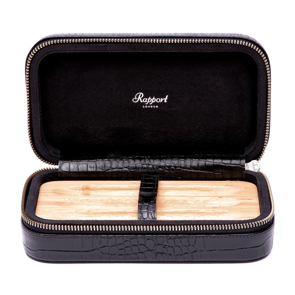 RAPPORT CIGAR SOFT CASE for 3 cigars - BLACK