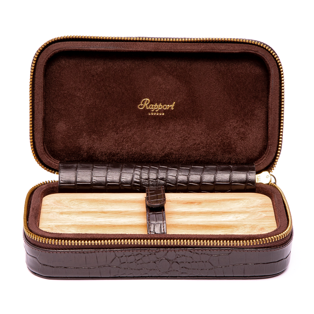 RAPPORT CIGAR SOFT CASE for 3 cigars - BROWN