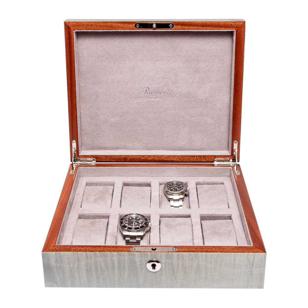 RAPPORT HERITAGE WATCHBOX for 8 watches- GREY