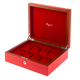 RAPPORT HERITAGE WATCHBOX for 8 watches- RED