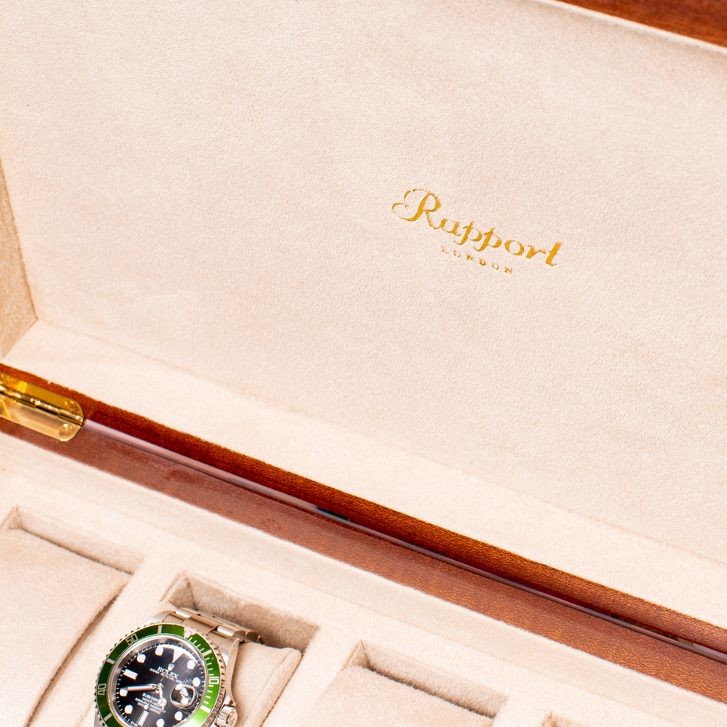 RAPPORT LABYRINTH WATCHBOX for 10 watches- ORANGE