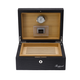 RAPPORT HUMIDOR LEATHER for 50 Cigars - BLACK