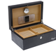 RAPPORT HUMIDOR LEATHER for 100 Cigars - BLACK