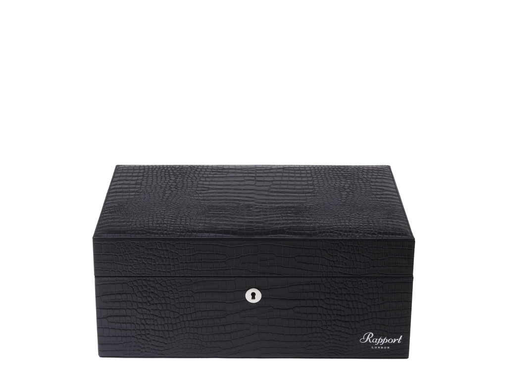 RAPPORT HUMIDOR LEATHER for 150 Cigars - BLACK