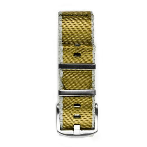 Everest NYLON WATCH BAND FOR WATCHES WITH 22MM LUG WIDTHS- KHAKI & GRAY