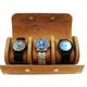Lum Tec Watch Roll - 3 Watches Beige