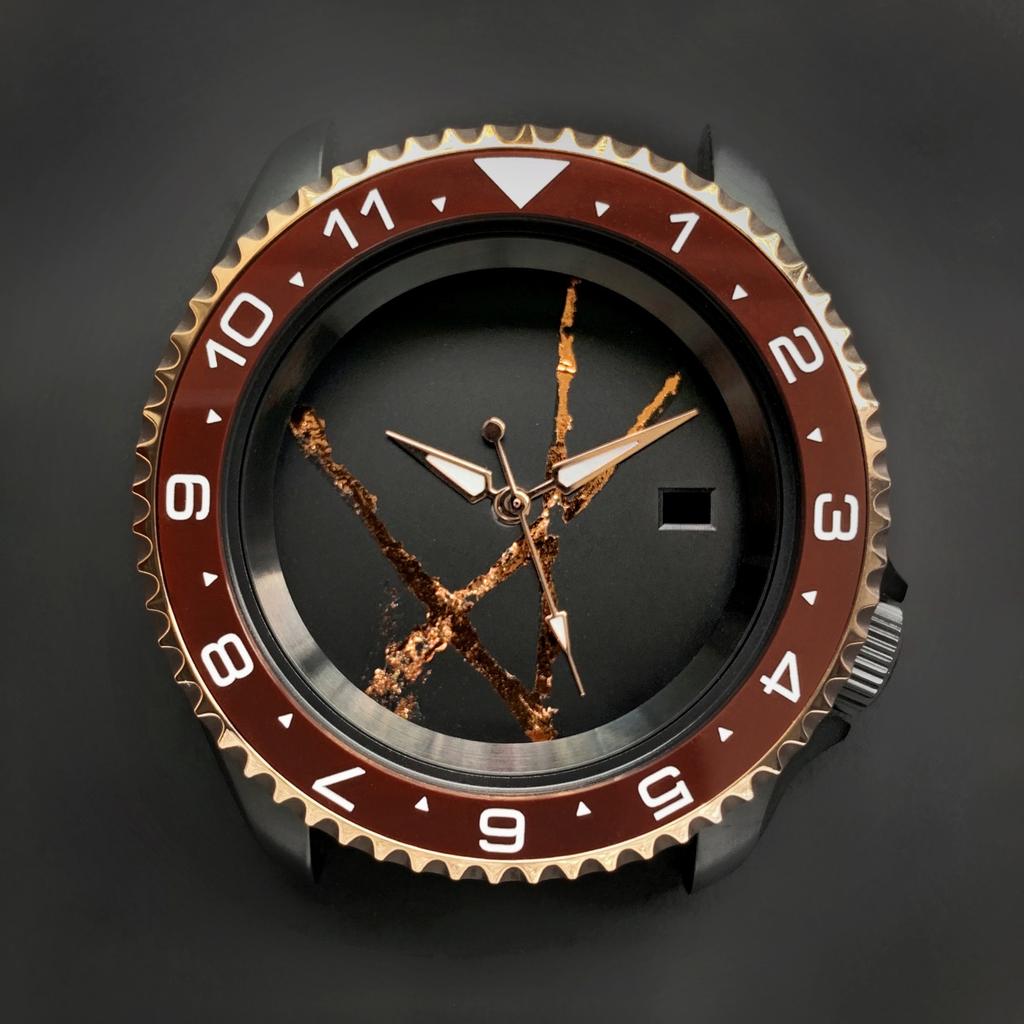 DLW Ceramic Insert - SKX Dual Time Umber