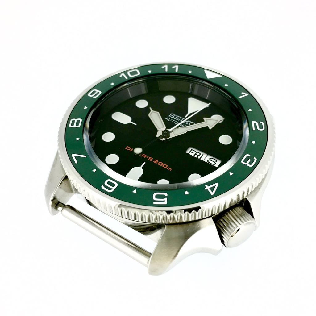 DLW Ceramic Insert - SKX Dual Time Green