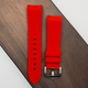Strapatelier Curved Lug 22mm Silicone strap- Red