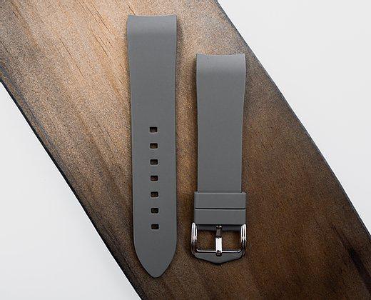 Strapatelier Curved Lug 22mm Silicone strap- Grey