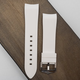 Strapatelier Curved Lug 22mm Silicone strap- White