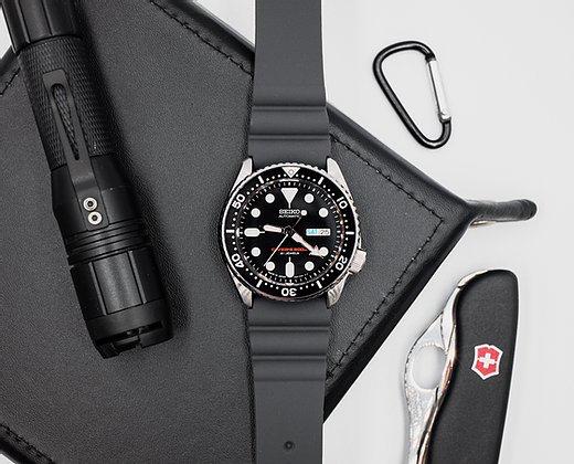 Strapatelier Diver 22mm Silicone strap- Grey