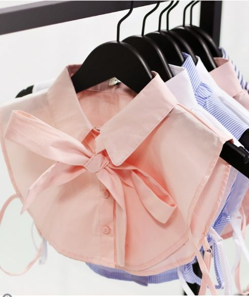 MJ Pussy Bow Collar Pink