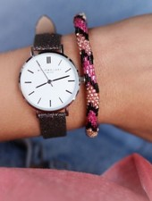 MJ Little Beads Bracelet - Pink/Black