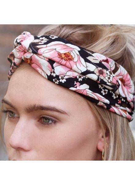 MJ Headband Romentic Flower - Black