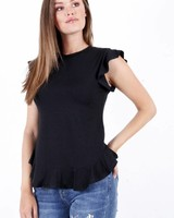 TS Dana Top Ruches Black