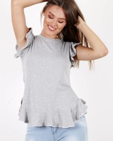 TS Dana Top Ruches Grey