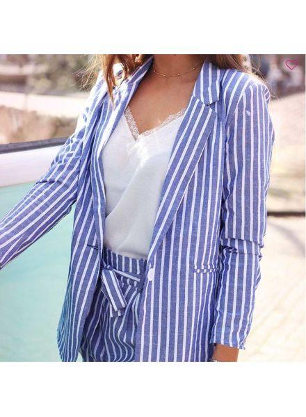 MJ Stien Blazer Stripes Blue & White