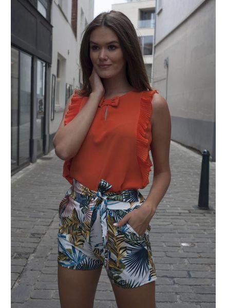 AA Ella Top Franges Orange