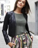 AA Sienna Short Lederlook Jacket
