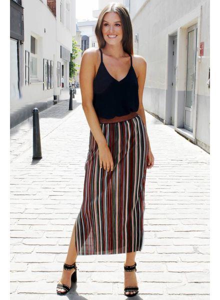 AA Julie Long Skirt Multicolor Rusty/Green