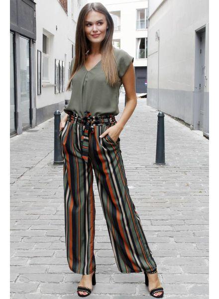 GL Aurélie Wide Pants Kakhi/Orange