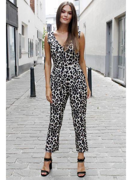 AA Layla Leopard Suit Open Back