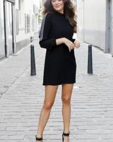 GJ Dress Black Border On Sleeve