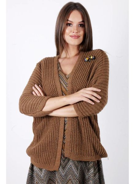 GL Bea Cardigan Broches Camel
