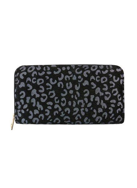 MJ Leopard Wallet Grey