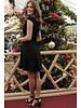 AA Gina Dress Dots & Bow Black/Rosé
