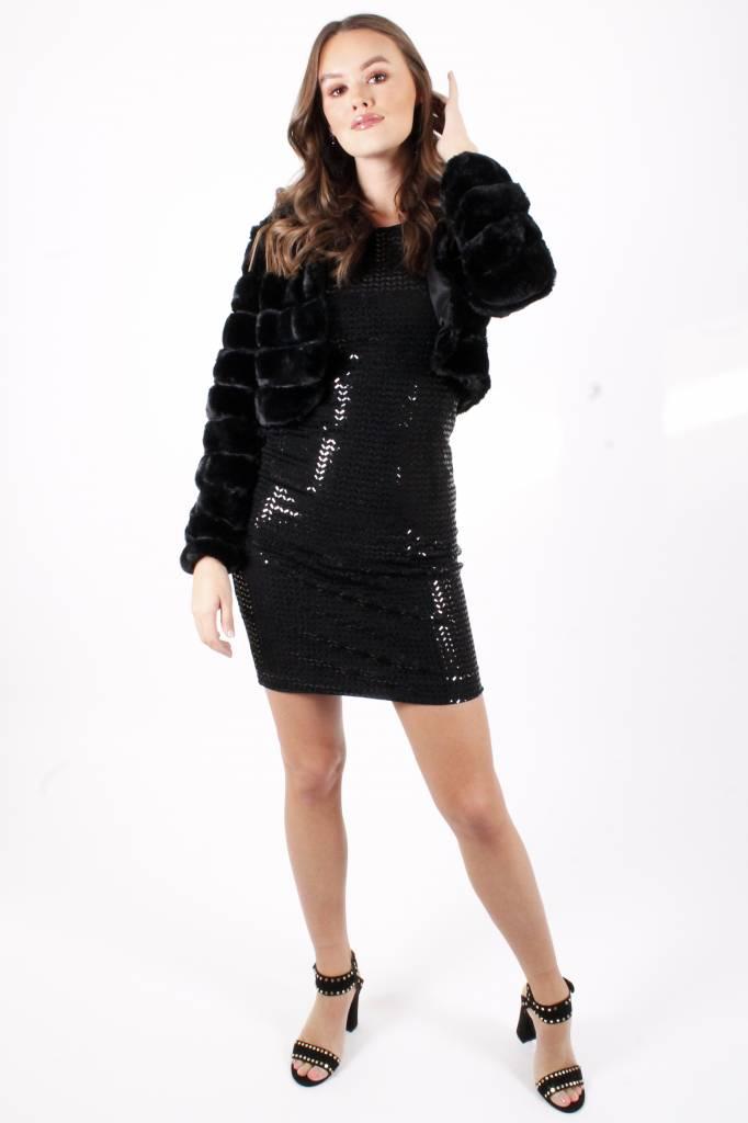 GL Marilou Paillettes Black Dress