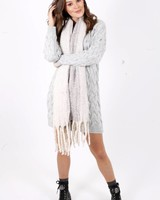 AT Oversized Scarf Beige/Grey