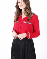 AT Loulou Chemisier Blouse Red