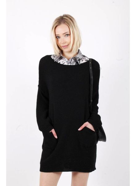 AT Liana Black Sweater Dress