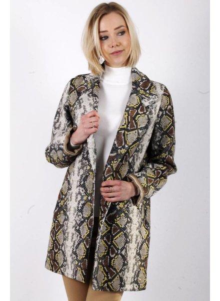 AA Debora Coat Snake Print