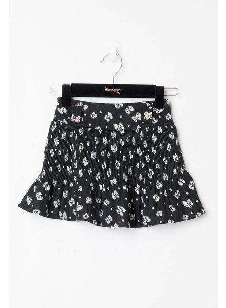 CL Mar Black White Skirt Flower