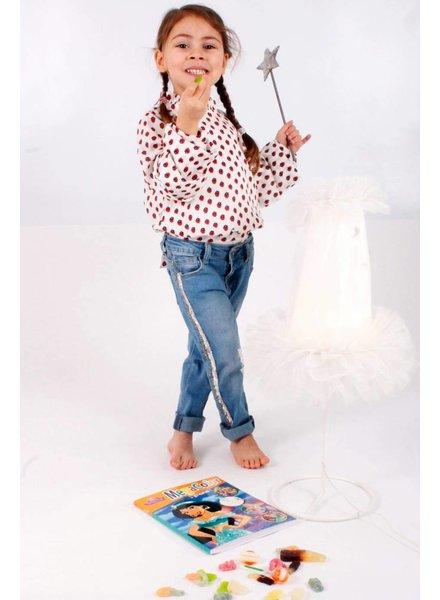 NS Amelie Jeans Glitterstreepje