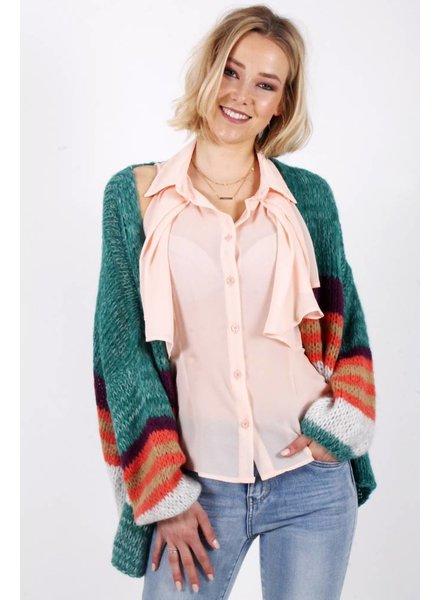LF Denise Cardigan Green/Orange/Purple