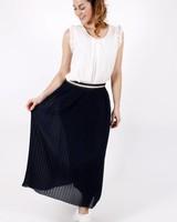GL Eva Blue Skirt Lurex Border